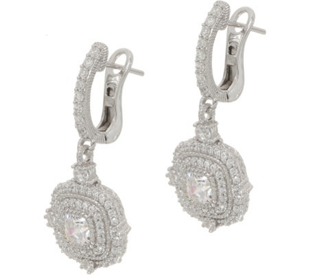 Judith Ripka Sterling 1.65 cttw Diamonique Earrings