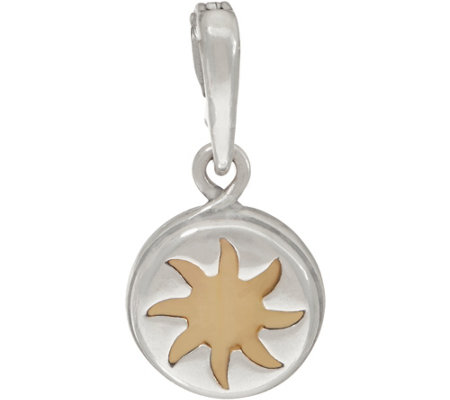 Carolyn Pollack Sterling Silver Mother of Pearl Sun Charm
