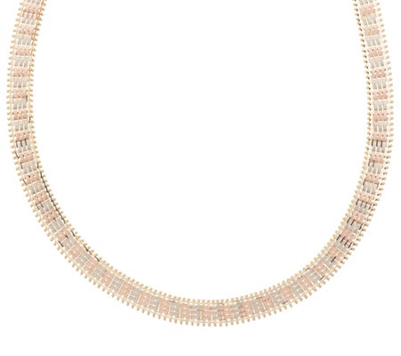"Imperial Gold 18"" Satin Lame' Necklace, 14K Gold, 32.8g"