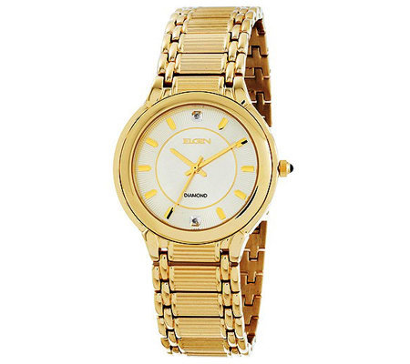 Elgin Mens Watch With Diamond Accents