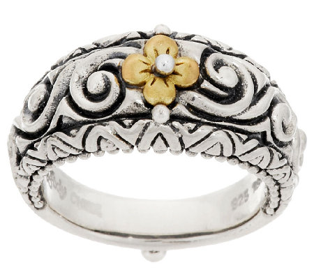Barbara Bixby Sterling & 18K Signature Design Band Ring