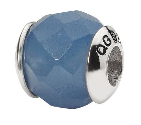 Prerogatives Sterling Blue Quartz Gemstone Bead
