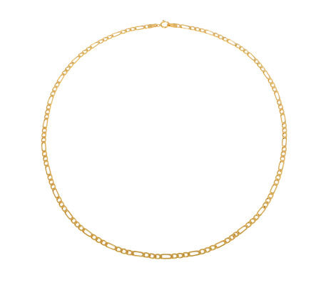 "Milor 8"" Polished Figaro Bracelet, 14K Gold 5.6g"