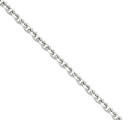"Stainless Steel 3.4mm 18"" Cable Chain Necklace"