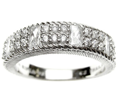 Judith Ripka Sterling 5/8 cttw Diamonique Band Ring