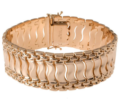 "Bronzo Italia 8"" Polished Fancy Link Bracelet"