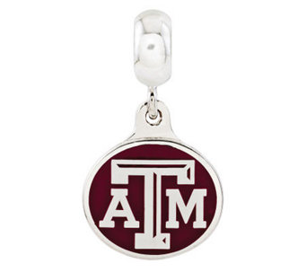 Sterling Silver Texas A & M University Dangle Bead - J315012