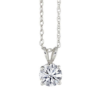 Round Solitaire Diamond Pendant, 14K, 1/10 cttw by Affinity - J316912