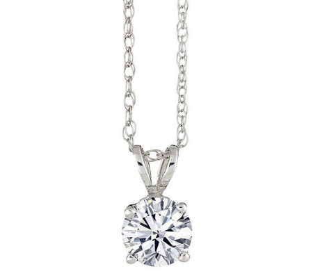 Round Solitaire Diamond Pendant, 14K, 1/10 cttw by Affinity