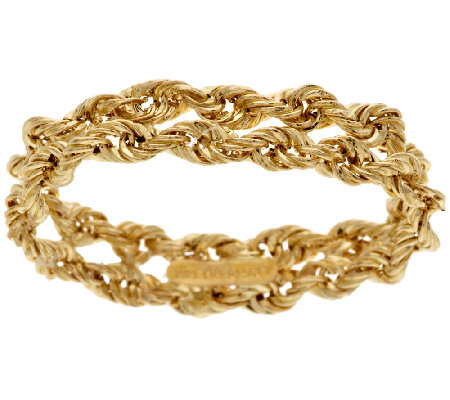 """As Is"" 14K Gold Flexible Woven Band Ring"