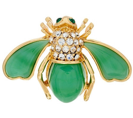 Joan Rivers Look of Semi-Precious Bee Pin