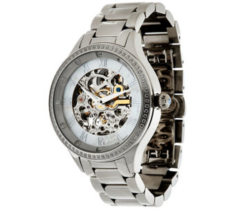 Stainless Steel Round Case Bracelet Strap Watch - J325012