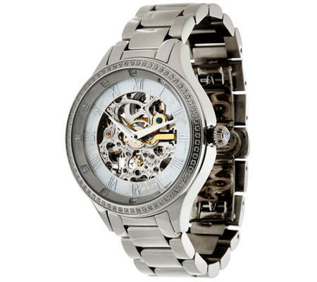 Stainless Steel Round Case Bracelet Strap Watch