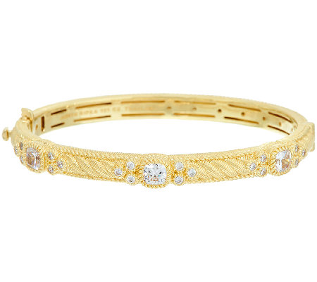 Judith Ripka Sterling & 14K Clad Diamonique Bangle Bracelet