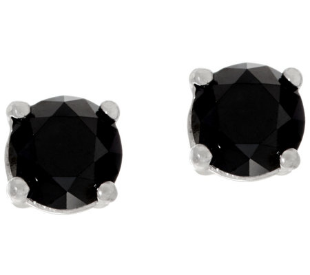 Black Diamond Stud Earrings, Sterling, 1.00 cttw, by Affinity