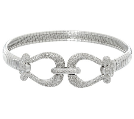 Diamond Omega Bracelet, Sterling, 1/3 cttw, by Affinity