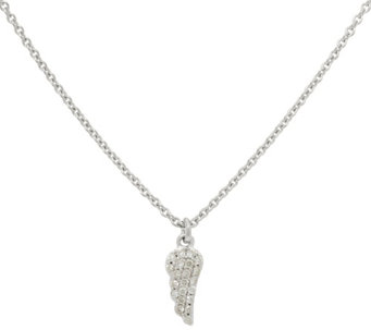 La Soula for Affinity Diamond Mini Angel Sterling Pendant w/Chain - J333912