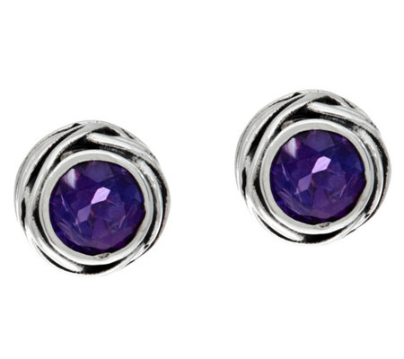 Or Paz Sterling Silver Gemstone Solitaire Earrings