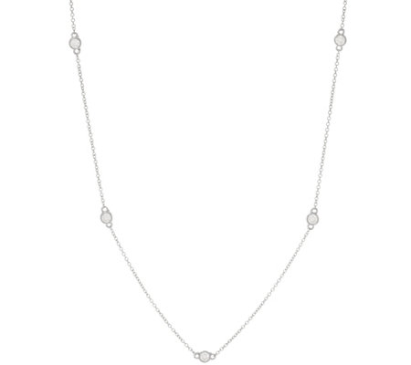 """As Is"" Diamonique 36"" Station Necklace, Ster.or 14KClad"