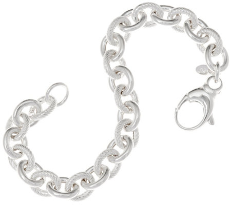 """As Is"" Ultrafine Silver 6-3/4"" Rolo Link Bracelet 15.0g"