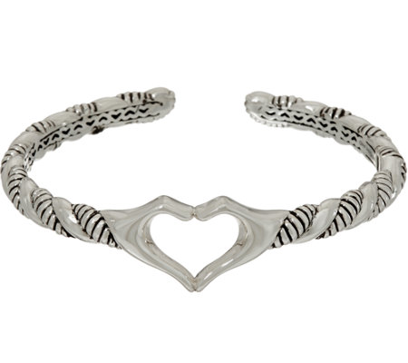 """As Is"" JAI Sterling Silver ""I Love"" Cuff"