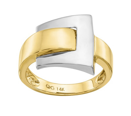 14K Gold Two-Tone Buckle Ring