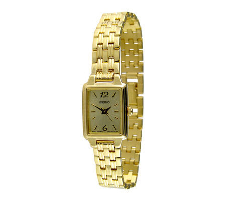 Seiko Ladies Goldtone Bracelet with Square Dial