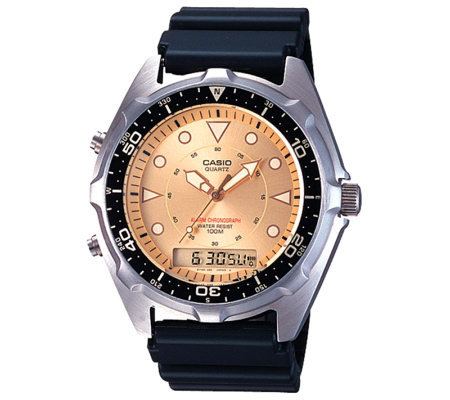 Casio Men's Ana-Digi Alarm Chronograph Dive Watch