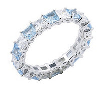 Diamonique Eternity Band Ring, Pla tinum Clad - J302413