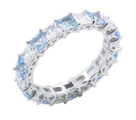 Diamonique Eternity Band Ring, Pla tinum Clad