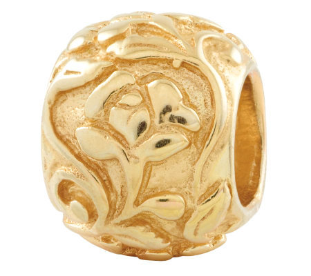 Prerogatives Gold-Plated Sterling Floral Bead