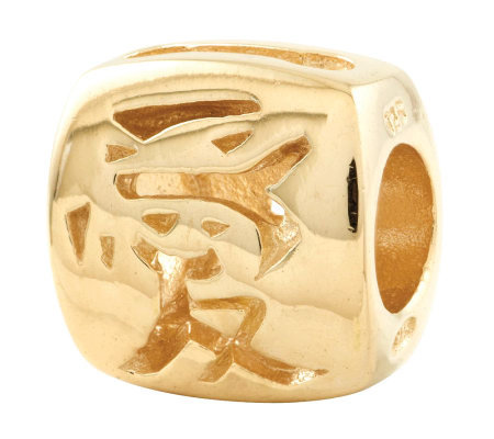 Prerogatives 14K Yellow Gold-Plated Sterling Chinese Love Bead
