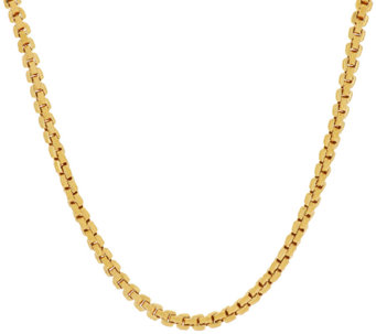 "Vicenza Silver Sterling 16"" Polished Box Chain Necklace, 16.0g - J317913"