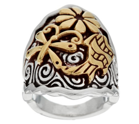 """As Is"" Jody Naranjo Sterling/Brass Spirit Ring"