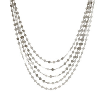 "Bianca 18"" Polished Multi-Strand Necklace, 14.0g - J333413"
