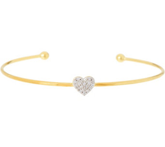 La Soula for Affinity Diamond Mini Heart Sterling Cuff - J333913