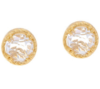 DeLatori Sterling 14K Clad & Crystal Quartz Stud Earrings - J334413