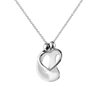 Loving Family Small Sterling Couple Pendant w/Chain - J337713