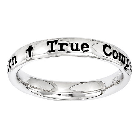 Simply Stacks Sterling Lyric True Companion Ring
