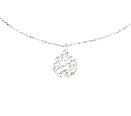 "Sterling ""I Love You"" Pendant w/ 18"" Chain"