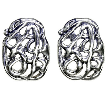 Hagit Sterling Openwork Earrings