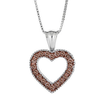Champagne Diamond Pendant, Sterling, 1/4 cttw,by Affinity - J344113