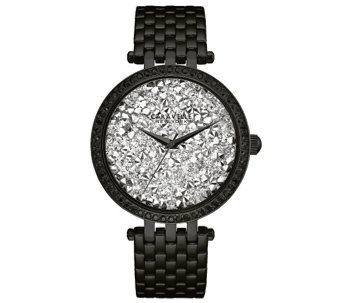 Caravelle New York Women's Black Watch w/ Crystal Dial - J344213