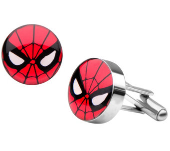 Marvel Spider-Man Face Stainless Steel Cuff Links - J344813