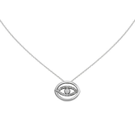 Dainty Designs 14K Diamond Accent Halo Evil EyePendant