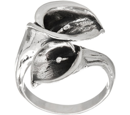 Or Paz Sterling Silver Polished Calla Lily Ring