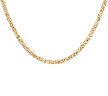 "14K Gold 20"" Domed Byzantine Necklace, 10.0g"