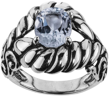 Carolyn Pollack Sterling Silver Brilliant WhiteTopaz Ring