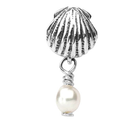 Prerogatives Sterling Shell Cultured FW Pearl Dangle Bead