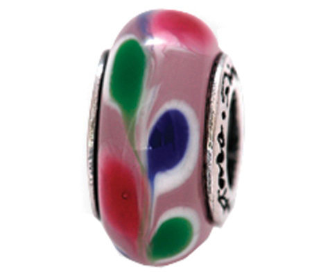 Prerogatives Sterling Pink, Blue, and Green Glass Bead